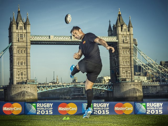 Dan Carter kicks off Mastercard's partnership with Rugby World Cup 2015