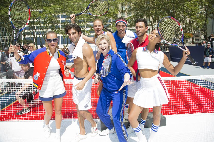 Rafa Nadal launches Tommy Hilfiger collections, with Chanel Iman, Lake Bell, Constance Jablonski, Hannah Davis