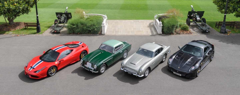 London's City Concours to show and sell rare, significant cars—Aston Martin, Ferrari, Bugatti represented