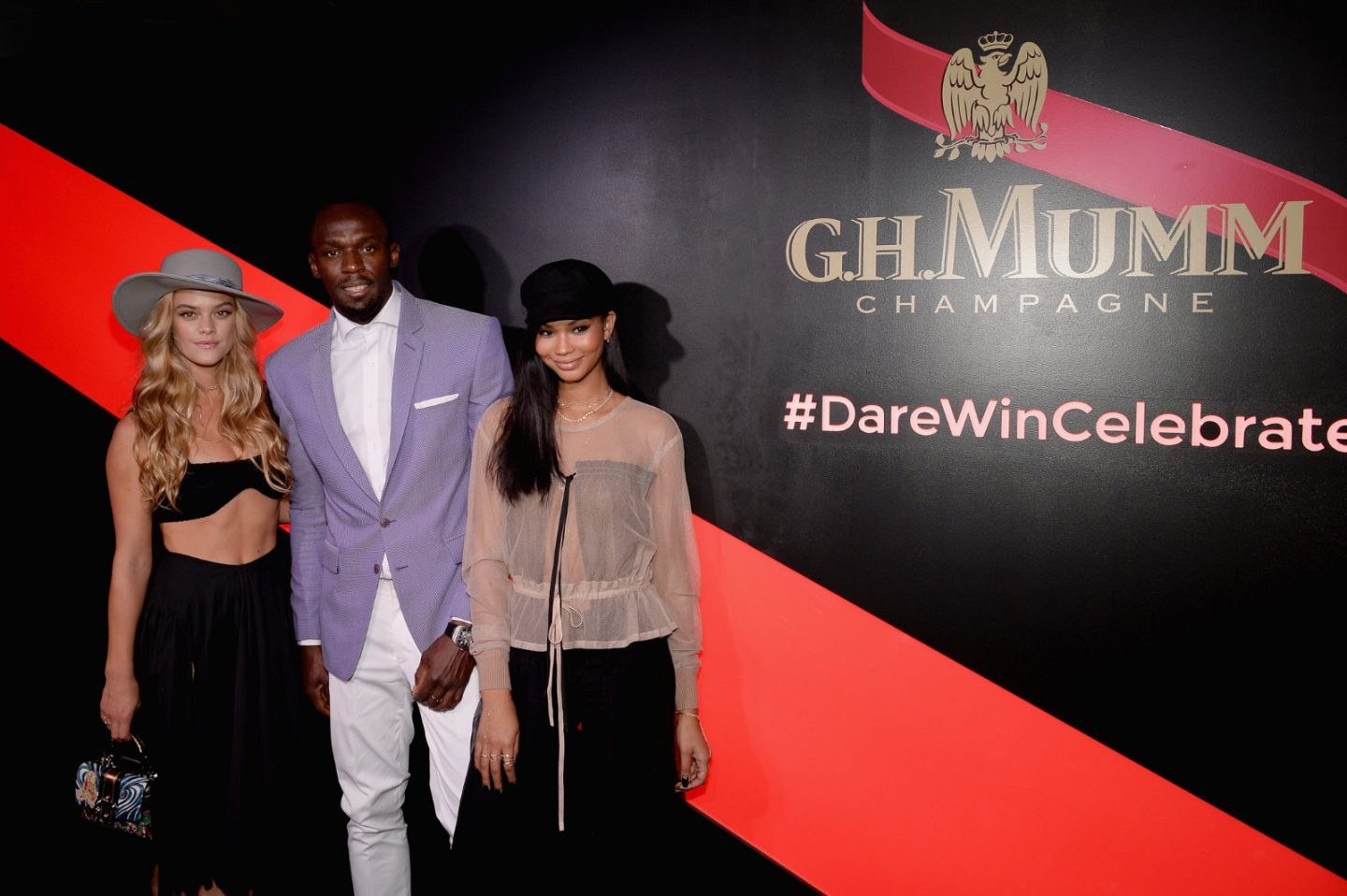 Usain Bolt, Chanel Iman, Nina Agdal celebrate Kentucky Derby at G. H. Mumm event in NYC