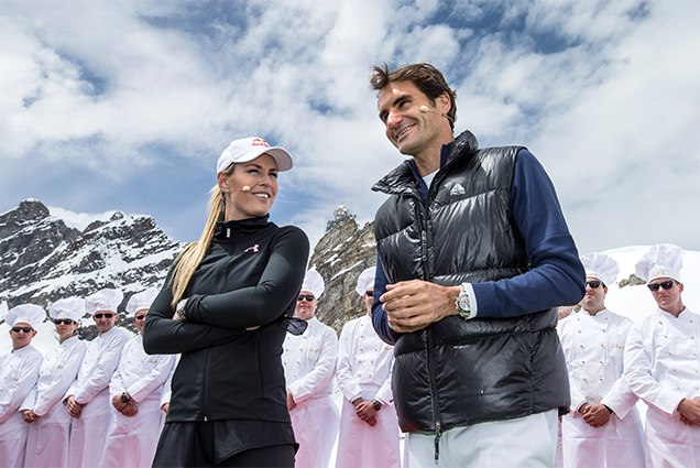 Sponsored video: Roger Federer and Lindsey Vonn get to <i>#ChocolateHeaven</i>