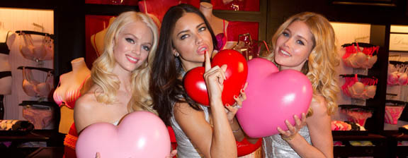 "Victoria's Secret ""angels"" talk about love and their first kiss for Valentine's Day"
