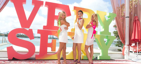 Adriana Lima, Candice Swanepoel and Erin Heatherton on tour for Victoria's Secret